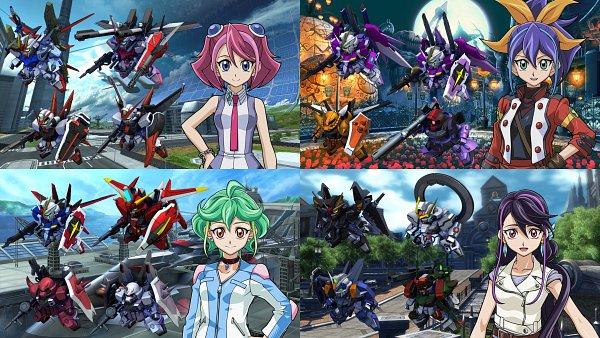 Tags: Anime, Mobile Suit Gundam Seed Destiny Msv, Mobile Suit Gundam SEED, Mobile Suit Gundam SEED Destiny, Mobile Suit Gundam Seed C.e. 73: Stargazer, SD Gundam G Generation, Yu-Gi-Oh! ARC-V, Yu-Gi-Oh!, Hiiragi Yuzu, Saviour Gundam, Strike Rouge, Impulse Gundam, Rin (Yu-Gi-Oh! ARC-V)