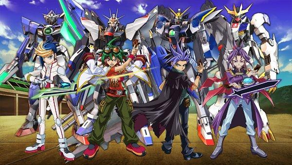 Tags: Anime, Mobile Suit Gundam SEED Destiny, Mobile Suit Gundam 00, Kidou Senshi Gundam: Tekketsu no Orphans, Mobile Suit Gundam Wing, Yu-Gi-Oh!, Yu-Gi-Oh! ARC-V, Yuuri (Yu-Gi-Oh! ARC-V), Strike Freedom Gundam, ASW-G-08 Gundam Barbatos Lupus Rex, Yuugo (Yu-Gi-Oh! ARC-V), GNT-0000 00 Qan(T), XXXG-00W0 Wing Gundam Zero