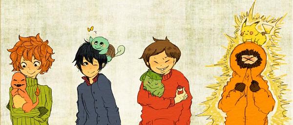 Tags: Anime, South Park, Pokémon, Kyle Broflovski, Charmander, Kenneth McCormick, Squirtle, Stanley Randall Marsh, Pikachu, Eric Theodore Cartman, Bulbasaur, Facebook Cover