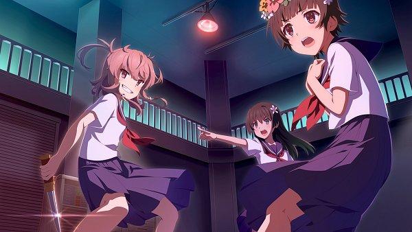 Tags: Anime, To Aru Majutsu no Index, To Aru Kagaku no Railgun, Toji no Miko: Kizamishi Issen no Tomoshibi, Uiharu Kazari, Shichinosato Kofuki, Saten Ruiko