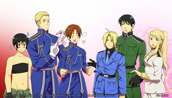 Tags: Anime, Hubedihubbe, Axis Powers: Hetalia, Fullmetal Alchemist, Roy Mustang, Germany, Edward Elric, North Italy, Winry Rockbell, Japan, Germany (Cosplay), Edward Elric (Cosplay), North Italy (Cosplay)
