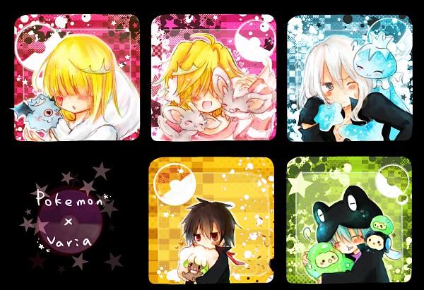 Tags: Anime, Pixiv Id 310248, Katekyo Hitman REBORN!, Pokémon, Whimsicott, Rasiel, Xanxus, Solosis, Fran, Reuniclus, Superbi Squalo, Woobat, Belphegor