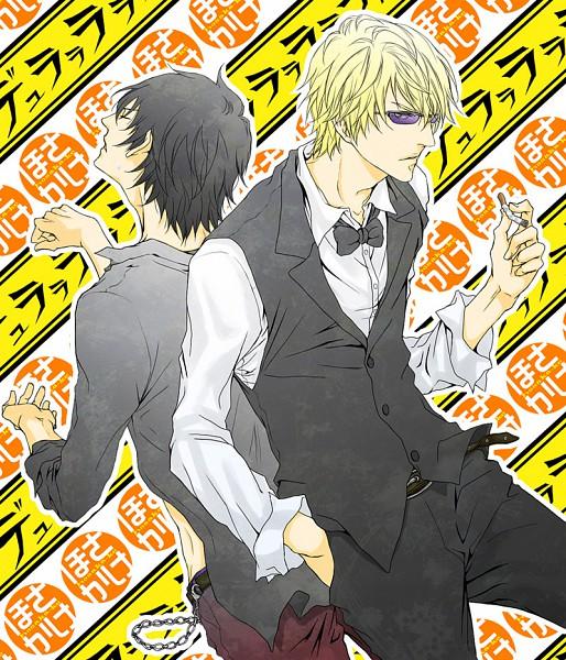 Tags: Anime, Pixiv Id 298070, DURARARA!!, Minami-ke, Heiwajima Shizuo, Hosaka (Minami-ke), Bartender, Fanart, Pixiv