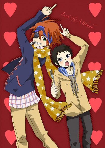 Tags: Anime, DURARARA!!, D.Gray-man, Ryuugamine Mikado, Lavi, Mobile Wallpaper