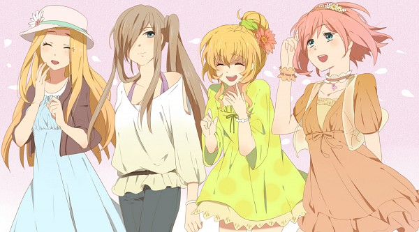Tags: Anime, Karuha, Tales of Vesperia, Tales of Phantasia, Tales of Symphonia, Tales of the Abyss, Colette Brunel, Mint Adenade, Estellise Sidos Heurassein, Tear Grants, Fanart, Facebook Cover