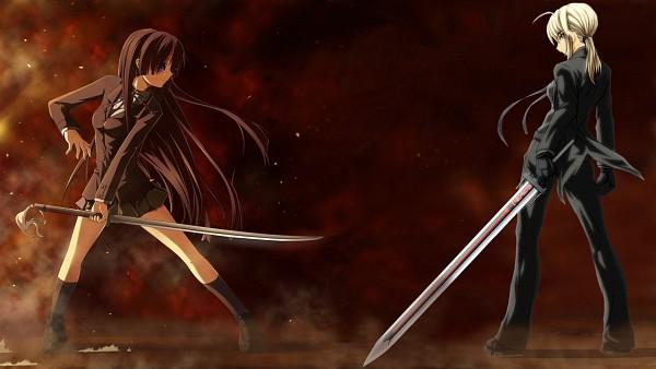 Tags: Anime, TYPE-MOON, Fate/zero, K-ON!, Saber (Fate/stay night), Ga-Rei: Zero (Parody), HD Wallpaper, Facebook Cover