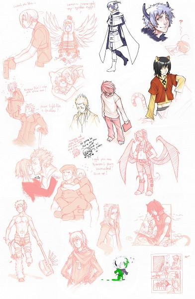 Tags: Anime, Drowdragon, DEATH NOTE, BIOHAZARD, Kingdom Hearts, Lamento, Lexaeus, Kaltz, Zexion, Bardo, Jack Krauser, Xemnas, Ryuk
