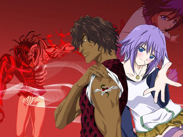 "Tags: Anime, Rosario + Vampire, BLEACH, Shirayuki Mizore, Yasutora ""Chad"" Sado, Wallpaper"
