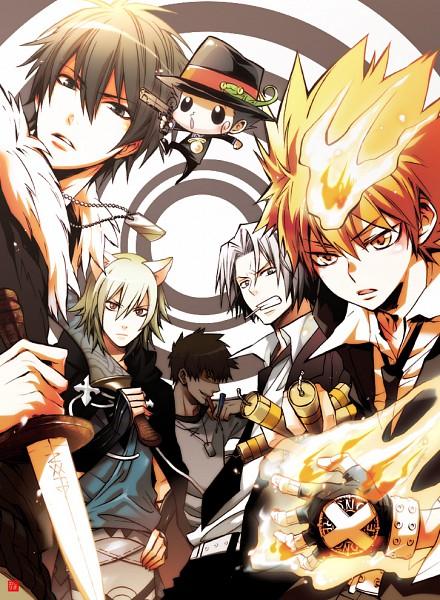 Tags: Anime, Sakumashiki, Nitro+CHiRAL, Katekyo Hitman REBORN!, Lamento, Togainu no Chi, Reborn, Leon (Katekyo Hitman REBORN!), Keisuke (TNC), Sawada Tsunayoshi, Konoe, Akira (TNC), Gokudera Hayato