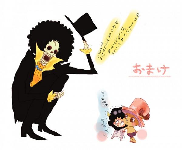 Tags: Anime, Pixiv Id 2056204, ONE PIECE, Katekyo Hitman REBORN!, Brook, Tony Tony Chopper, Lambo, Fanart, Pixiv, Straw Hat Pirates
