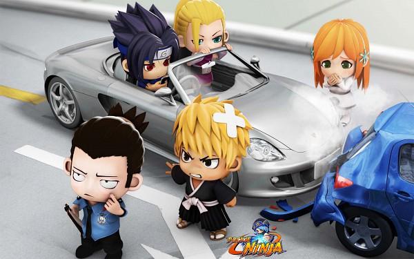 Tags: Anime, Pockie Ninja, NARUTO, BLEACH, Yamanaka Ino, Kurosaki Ichigo, Nara Shikamaru, Inoue Orihime, Uchiha Sasuke, Gotei 13