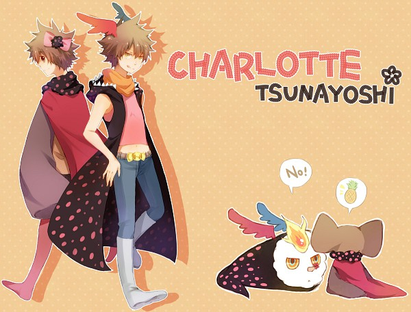 Tags: Anime, Akarii, Katekyo Hitman REBORN!, Mahou Shoujo Madoka☆Magica, Sawada Tsunayoshi, Charlotte (Madoka Magica), Charlotte (Madoka Magica) (Cosplay), Pixiv, Fanart