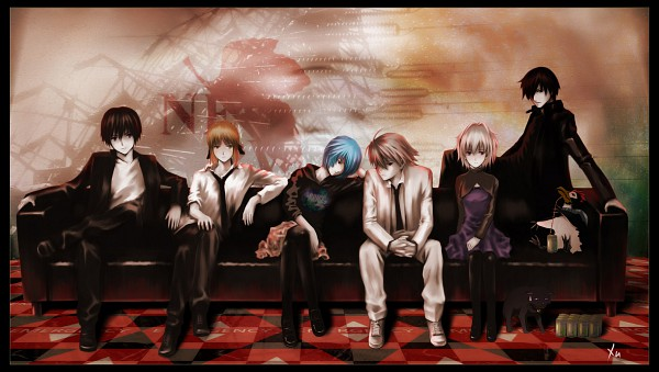Tags: Anime, Neon Genesis Evangelion, Darker than Black, Fate/stay night, Saber (Fate/stay night), Nagisa Kaworu, Ayanami Rei, Hei, Yin, Facebook Cover, Wallpaper