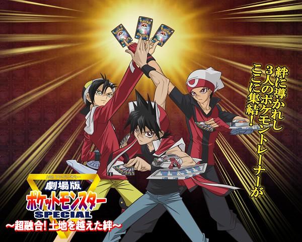 Tags: Anime, Pokémon SPECIAL, Yu-Gi-Oh!, Pokémon, Red (Pokémon SPECIAL), Ruby (Pokémon SPECIAL), Gold (Pokémon SPECIAL), Artist Request, Wallpaper