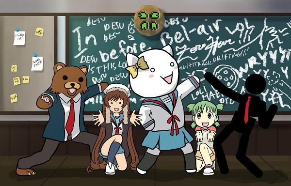 Tags: Anime, Yotsuba&!, Rozen Maiden, Suzumiya Haruhi no Yuuutsu, Koiwai Yotsuba, Suiseiseki, Pedobear, Quad Tails, Suzumiya Haruhi no Yuuutsu (Parody)
