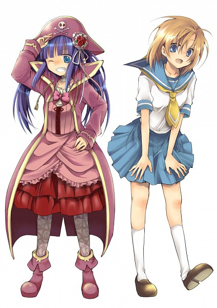 Tags: Anime, Hibiki Mio, 07th Expansion, Umineko no Naku Koro ni, Higurashi no Naku Koro ni, Ryuuguu Rena, Furudo Erika, Mobile Wallpaper