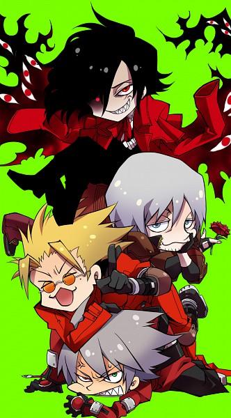 Tags: Anime, Rokusuke, HELLSING, Trigun, Devil May Cry, BlazBlue, Dante, Alucard (Hellsing), Ragna the Bloodedge, Vash the Stampede, Fanart, Mobile Wallpaper, Pixiv