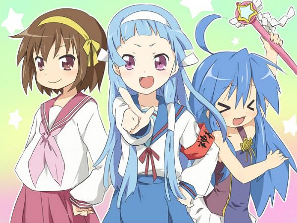 Tags: Anime, Punchiki, Lucky☆Star, Suzumiya Haruhi no Yuuutsu, Kannagi: Crazy Shrine Maidens, Suzumiya Haruhi, Nagi, Izumi Konata, Suzumiya Haruhi (Cosplay), Nagi (Cosplay)