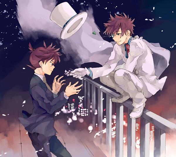 Tags: Anime, Pixiv Id 64405, Meitantei Conan, Magic Kaito, Kaitou Kid, Kuroba Kaito, Kudou Shinichi, Fanart From Pixiv, Fanart, Pixiv