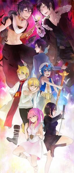 Tags: Anime, yui930, DURARARA!!, MAGI: The Labyrinth of Magic, Ali Baba Saluja, Ryuugamine Mikado, Aladdin (Magi), Sonohara Anri, Kida Masaomi, Orihara Izaya, Morgiana, Judar, Pixiv