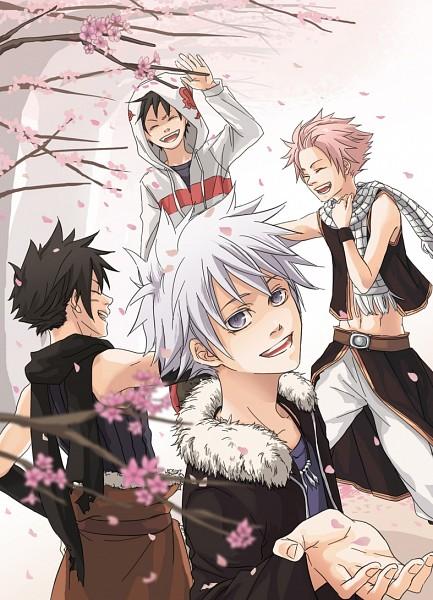 Tags: Anime, Pixiv Id 1117720, FAIRY TAIL, Monster Hunter Orage, RAVE Master, Monster Soul, Shiki Ryuuhou, Haru Glory, Aki (monster Soul), Natsu Dragneel, Creator Connection, Fanart, Pixiv