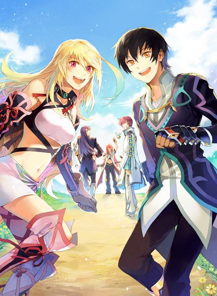 Tags: Anime, Rnia, Tales of Xillia, Tales of Graces, Tales of Vesperia, Tales of the Abyss, Milla Maxwell, Mieu (Tales of the Abyss), Yuri Lowell, Luke fon Fabre, Jude Mathis, Asbel Lhant, Pixiv