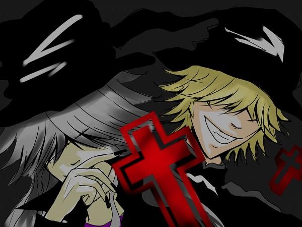Tags: Anime, Pixiv Id 1448950, Kuroshitsuji, Katekyo Hitman REBORN!, Belphegor, Undertaker, Wallpaper