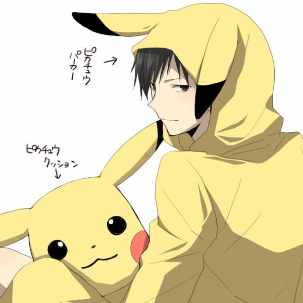 Tags: Anime, 5011 (artist), DURARARA!!, Pokémon, Orihara Izaya, Pikachu, Pokémon (Cosplay), Pikachu (Cosplay), Fanart, Pixiv