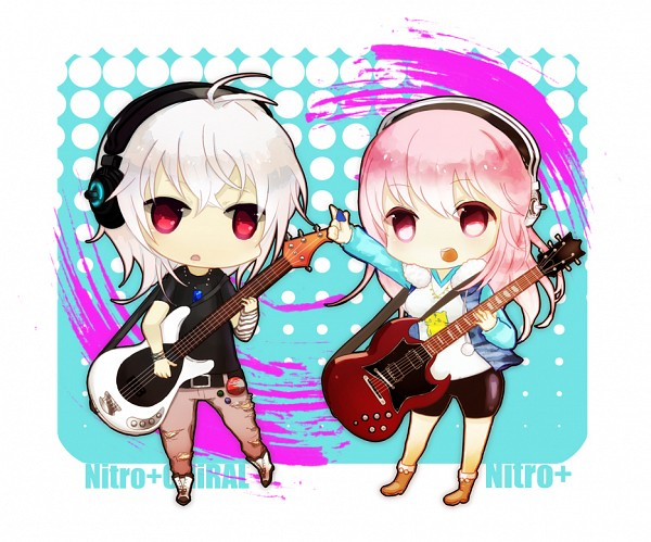 Tags: Anime, Pixiv Id 48177, Nitro+, Nitro+CHiRAL, Super Sonico, Sonico, Naitou-kun, Guitar Pick, Pixiv, Fanart