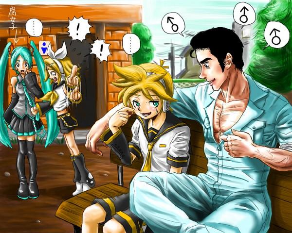 Tags: Anime, Pixiv Id 534357, Yaranaika, VOCALOID, Hatsune Miku, Kagamine Len, Kagamine Rin, Abe Takakazu, Fanart From Pixiv, Pixiv, Fanart