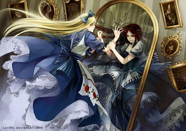 Tags: Anime, Lan Wu, Alice in Wonderland, American McGee's Alice: Madness Returns, American McGee's Alice, Alice (Alice in Wonderland), Alice (American McGee's), Different Reflection, Painting (Object), Broken Glass, deviantART, Fanart