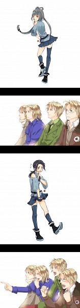 Tags: Anime, Pixiv Id 2628383, Axis Powers: Hetalia, VOCALOID, China, France, United Kingdom, Luo Tianyi, United States, Russia, Luo Tianyi (Cosplay), Audience, Gaijin 4koma