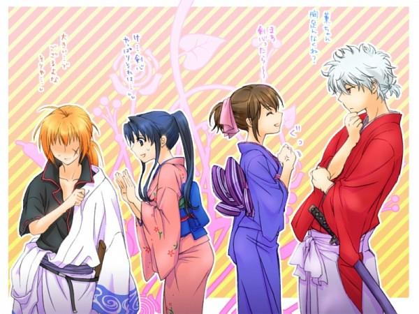 Tags: Anime, Pixiv Id 369891, Gintama, Rurouni Kenshin, Sakata Gintoki, Kamiya Kaoru, Himura Kenshin, Shimura Tae, Shimura Tae (Cosplay), Gintama (Cosplay), Sakata Gintoki (Cosplay), Rurouni Kenshin (Cosplay), Fanart