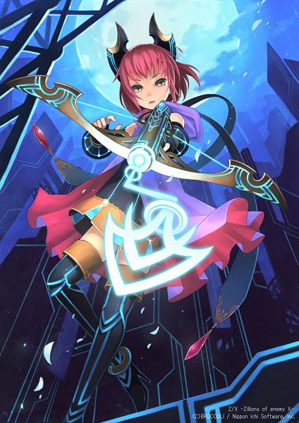Tags: Anime, Kato Ayaka, BROCCOLI, Nippon Ichi Software, Z/X - Zillions of Enemy X, Cross Sniper Scheat, Official Art, Official Card Illustration