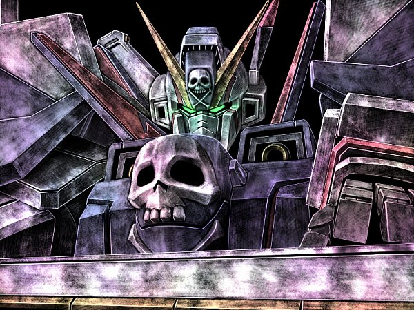 Tags: Anime, Tro, Mobile Suit Crossbone Gundam, Crossbone Gundam X-1, Wallpaper