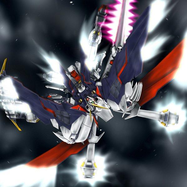 Tags: Anime, Puspus, Mobile Suit Crossbone Gundam, Crossbone Gundam X-1, Glowing Weapons