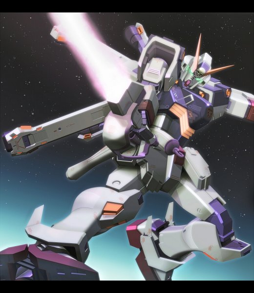 Tags: Anime, Reigan, Mobile Suit Crossbone Gundam, Glowing Weapons, Crossbone Gundam X-1