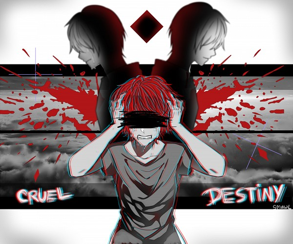 Tags: Anime, Smawl, VOCALOID, Fukase (VOCALOID), Gritted Teeth, Fanart, Fanart From Pixiv, Pixiv, Cruel Destiny, Wallpaper
