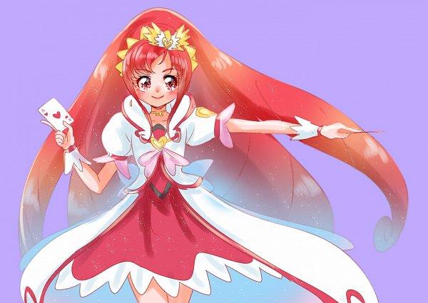 Tags: Anime, Sushino Hebana, Dokidoki! Precure, Madoka Aguri, Cure Ace, Ace (Card), Fanart From Pixiv, Pixiv, Fanart, Twitter