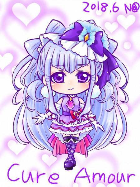 Tags: Anime, Pixiv Id 1015042, HUGtto! Precure, Lulu (Precure), Cure Amour, Fanart, Fanart From Pixiv, Pixiv