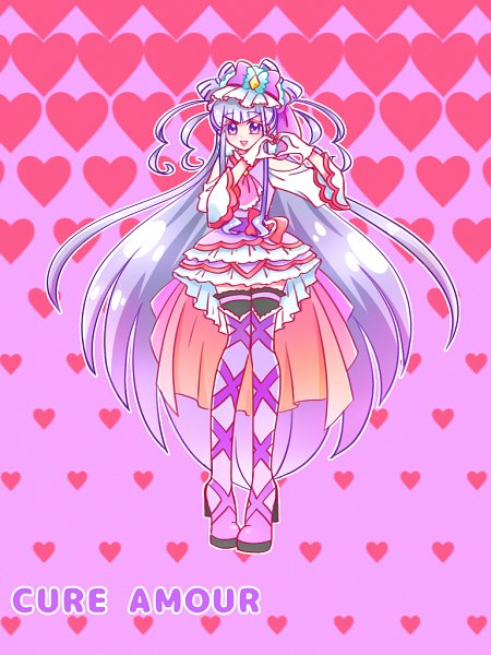 Tags: Anime, Pixiv Id 658105, HUGtto! Precure, Cure Amour, Lulu (Precure), Fanart From Pixiv, Pixiv, Fanart