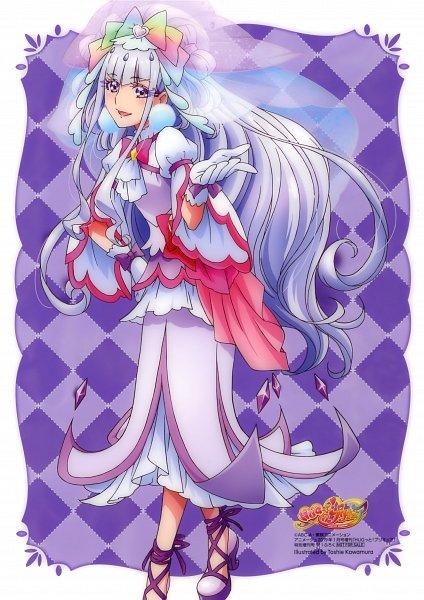 Tags: Anime, Kawamura Toshie, HUGtto! Precure, Lulu (Precure), Cure Amour, Cheerful Style, Scan, Shitajiki, Official Art