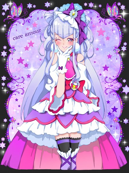 Tags: Anime, Pixiv Id 32013370, HUGtto! Precure, Cure Amour, Lulu (Precure), Fanart, Fanart From Pixiv, Pixiv