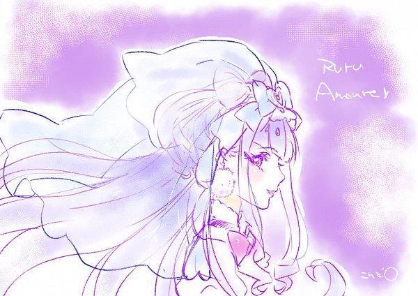 Tags: Anime, Kokoro Konko, HUGtto! Precure, Cure Amour, Lulu (Precure), Cheerful Style, Twitter, Fanart