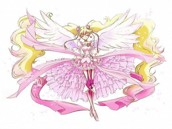 Tags: Anime, Fpminnie1, Fresh Precure!, Cure Peach, Momozono Love, Cure Angel (Peach), Twitter, Fanart
