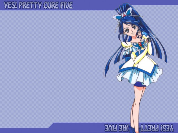 Tags: Anime, Yes! Precure 5, Cure Aqua, Minazuki Karen, Wallpaper, Official Art