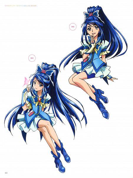 Tags: Anime, Kawamura Toshie, Toei Animation, Yes! Precure 5, Minazuki Karen, Cure Aqua, Scan, Official Art