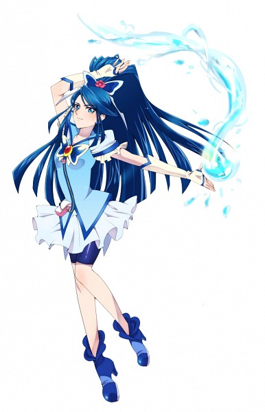 Tags: Anime, Pixiv Id 2734385, Yes! Precure 5, Cure Aqua, Minazuki Karen, Pixiv, Mobile Wallpaper, Fanart From Pixiv, Fanart