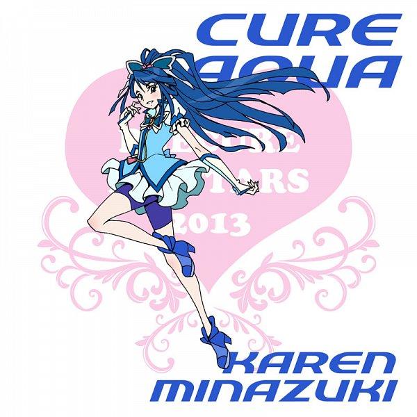 Tags: Anime, Eunos, Yes! Precure 5, Cure Aqua, Minazuki Karen, Fanart, Pixiv, Fanart From Pixiv