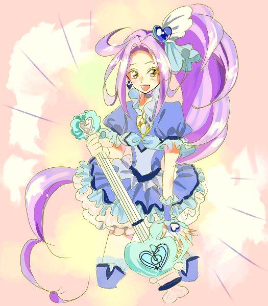Tags: Anime, Pixiv Id 30459934, Suite Precure♪, Cure Beat, Kurokawa Eren, Soul Rod Guitar, Pixiv, Fanart From Pixiv, Fanart